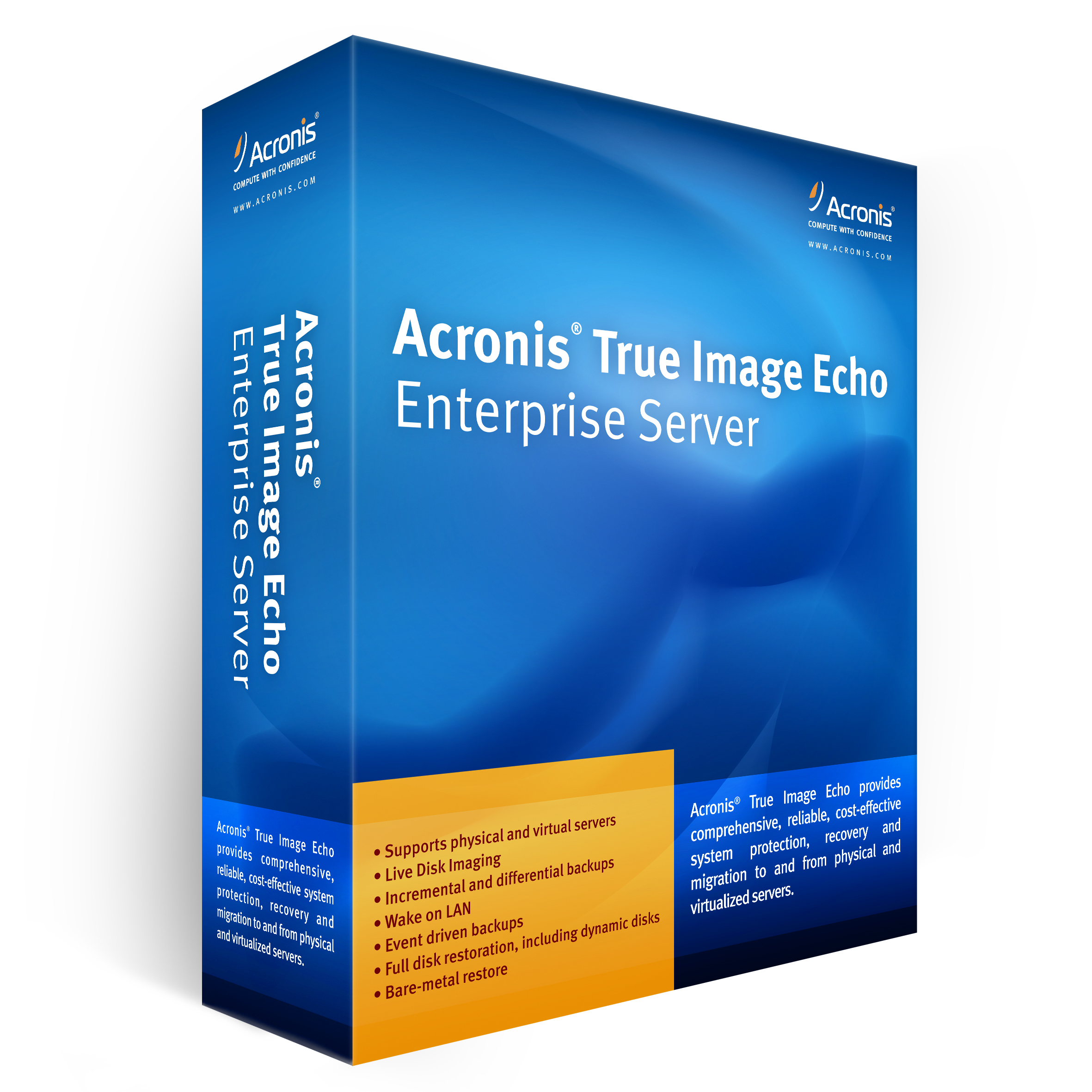 Acronis true image echo enterprise server bootable cd