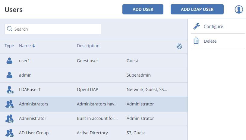Managing Users