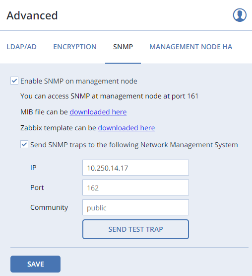 3. Monitoring Acronis Cluster Objects Via SNMP